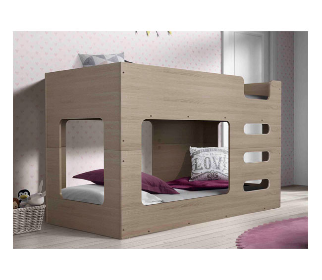 Cube Low Line Single Bunk Bed Furniture Adelaide